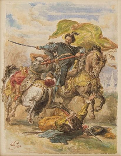 King Jan Sobieski Takes the Banner at the Battle of Vienna - Jan Matejko