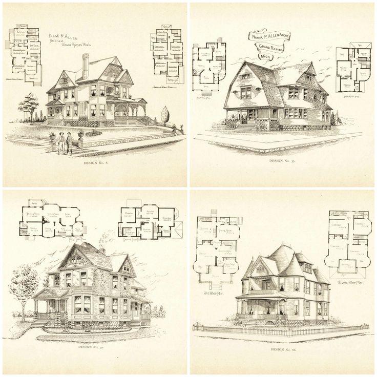 88 best Blueprints images on Pinterest Floor plans, Vintage homes - best of blueprint builders minneapolis