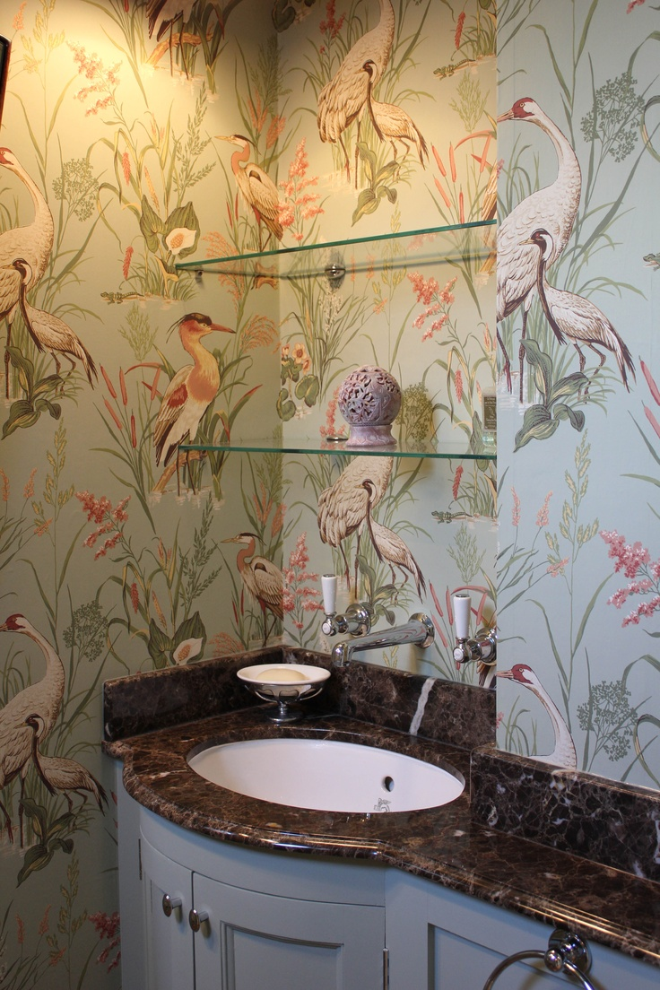 70 best patterns wallpaper images on pinterest textile patterns thibaut wallpaper emperador marble lefroy brook brassware beautiful cloakroom by cotton tree interiors