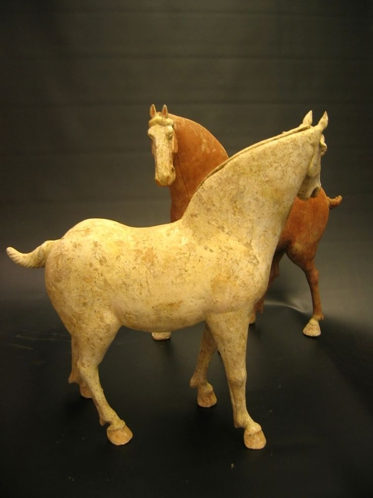 Tang Dynasty Pair of Striding Horses (AD 618-907)