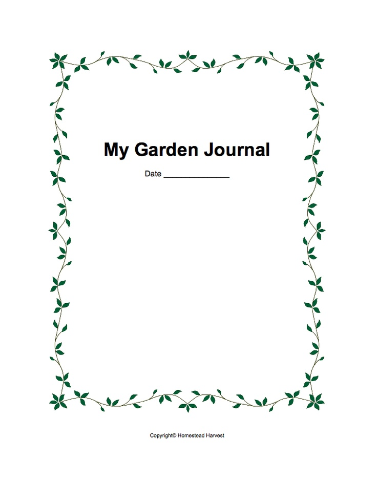 16 best images about Garden Journal Ideas on Pinterest