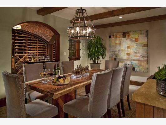 Outstanding Dining Room With Wine Cellar   Home And Garden Design Ideas Part 10