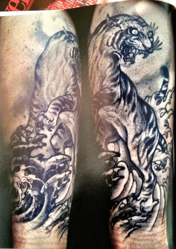 Tiger Black And White Tattoo tiger tattoo | Ink Ide...