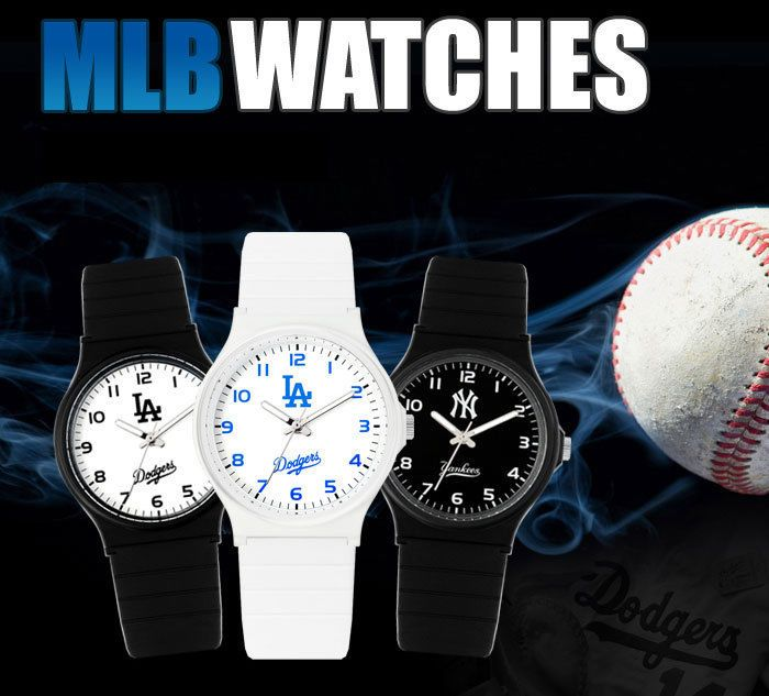 MLB322 Series Official LA Dodgers New York Yankees Fashion Wrist Watch_6 options #MLB