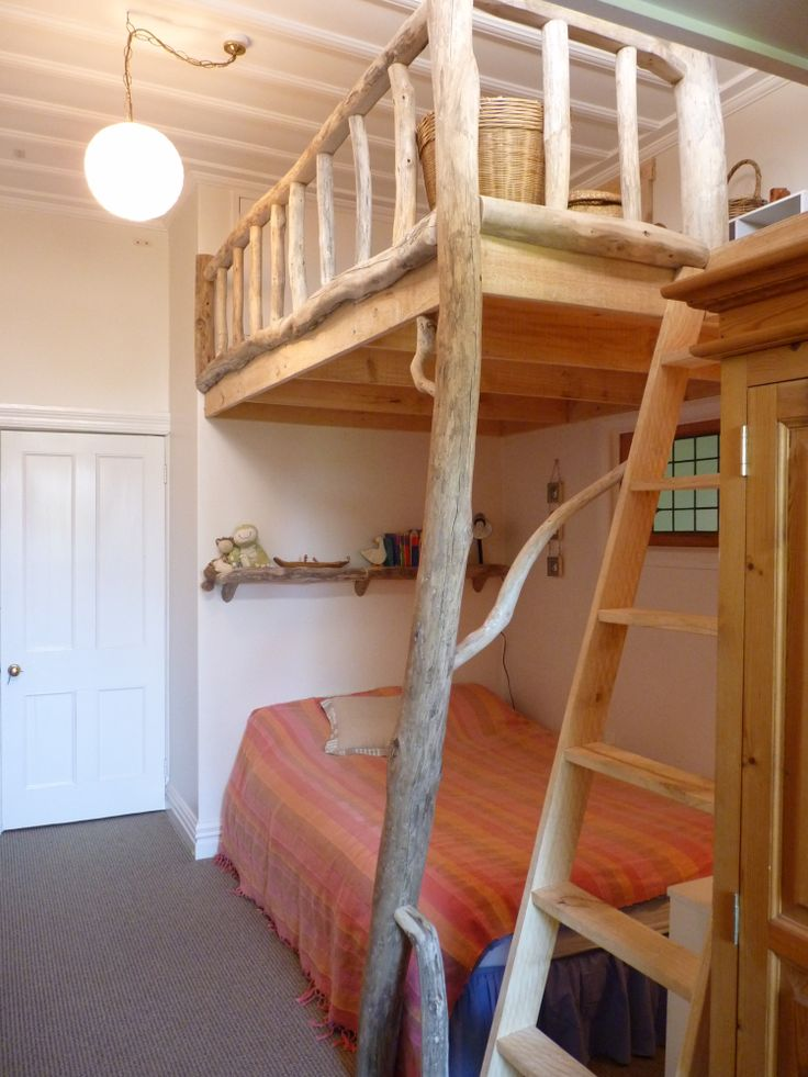 Driftwood loft for our kids, built by Douglas Ransom of Hawkes Bay, New Zealand www.facebook.com/nobelsteed