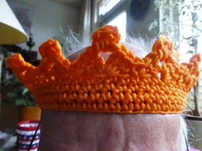 kroontjes haken, gehaakte kroontjes,kroningsdag, koninginnedag, oranje boven, gratis patroon kroontjes haken, haakpatroon kroontjes haken, haa een kroon, kroning willem alexander, jacobus de aap, catania grande