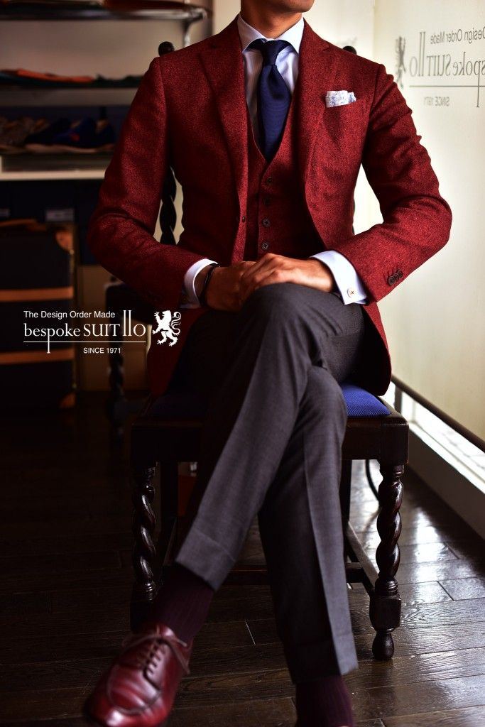 Ermenegildo Zegna. Solid, solid, solid. Burgundy, blue, white.  Great combo.