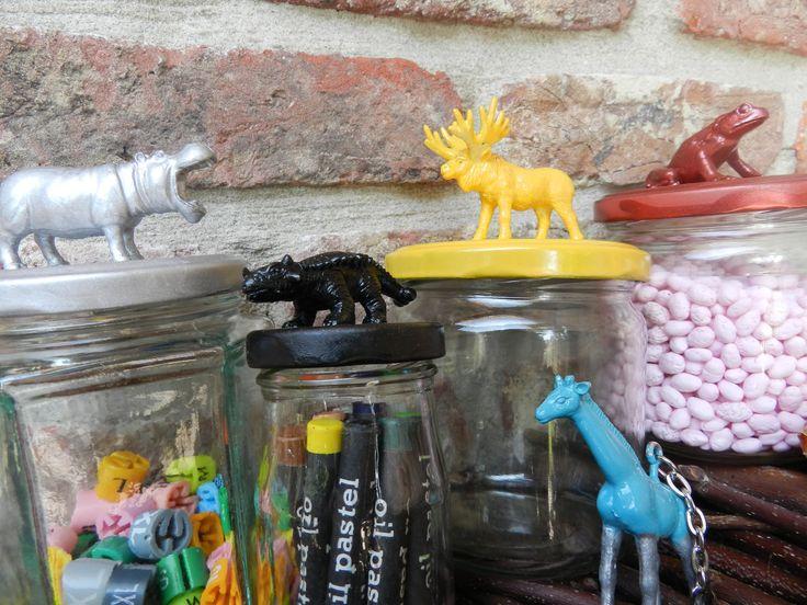 Dingetje dekseltje diertje! speelgoeddiertjes deksel bokaal sleutelhanger