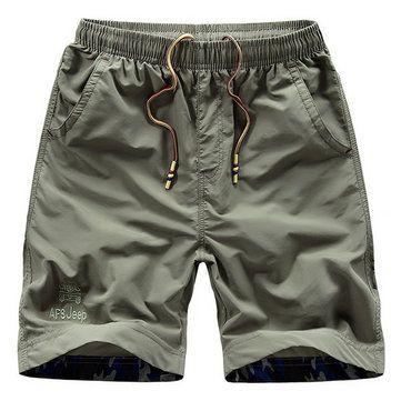 Mens S-4XL Summer Casual Quick-drying Military Style Loose Sports Knee-length Shorts at Banggood