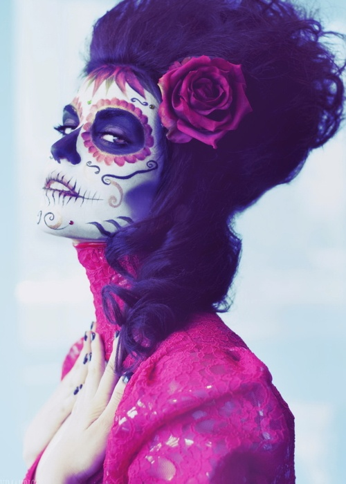 Face paint for Dia de los MuertosCandies Skull, Halloween Costumes, Body Painting, Of The, Mexicans Skull, Sugar Skull Makeup, Dead, Day, Halloween Ideas
