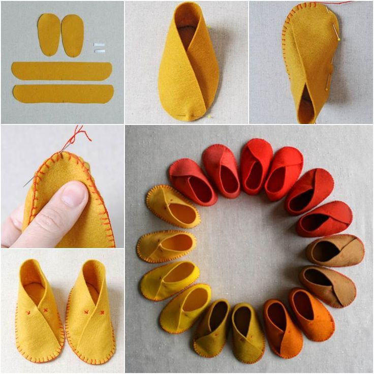 How to DIY Easy Felt Baby Shoes #DIY #sewing