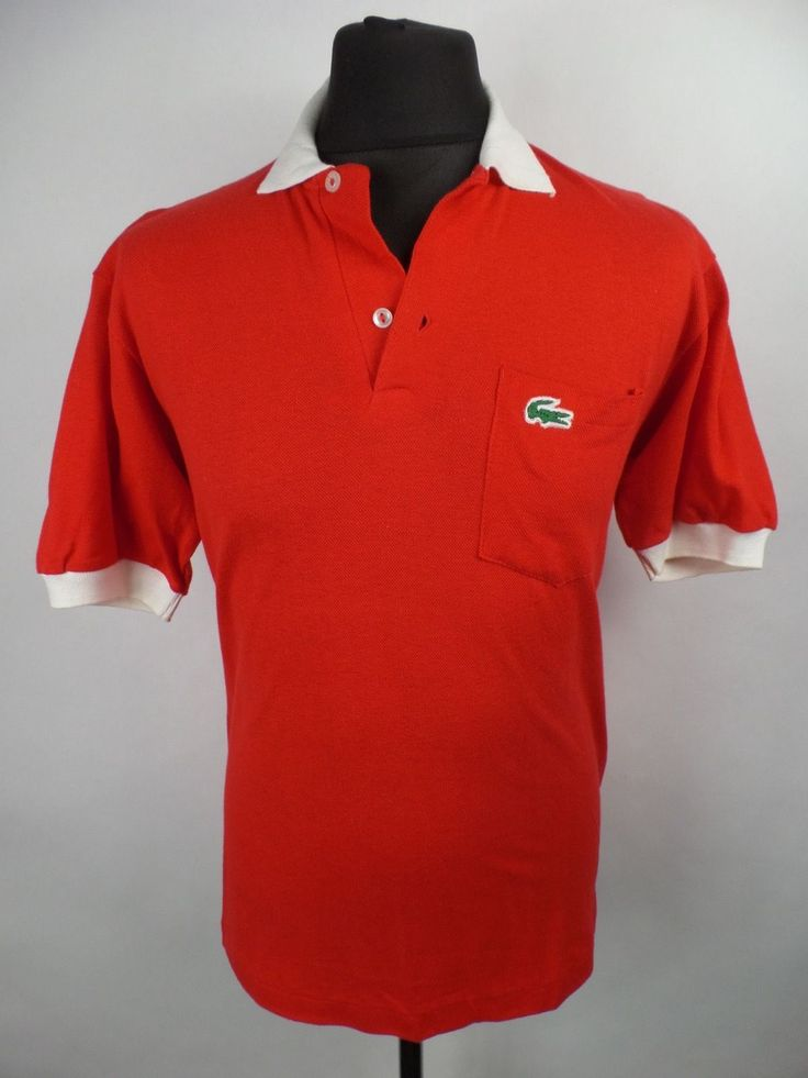Vintage LACOSTE Polo Shirt | Mens M | Retro Tee Croc 70s 80s in Clothing, Shoes & Accessories, Men's Clothing, Casual Shirts | eBay