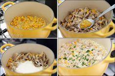 O que você faz com sobras de frango assado? Eu faço um prato que fica bem parecido com um fricassé e não leva 15 minutos para ficar pronto, quer ver? Comece desfiando a carne que sobra do frango (d…