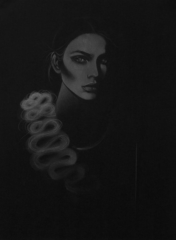 Victoria Beckham illustrated by Bex Cassie for ShowStudio.