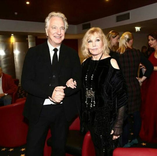 Alan with Kim Novak in Prague 3/19/2015 source: alanrickman_love