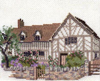 Mary Ardens House Cross Stitch Kit from Derwentwater Designs