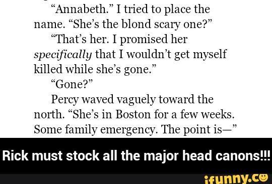 Rick must stock all the major head canons!!! - Trials of Apollo - Annabeth