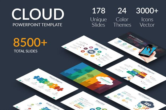 Cloud - Powerpoint Template by ProfessionalSlide on @creativemarket