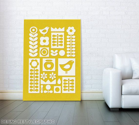 Hey, I found this really awesome Etsy listing at https://www.etsy.com/listing/217267943/canvas-poster-scandinavian-folk-ornament