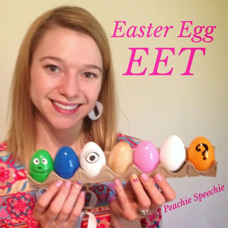 Easter Egg EET - the peachie speechie
