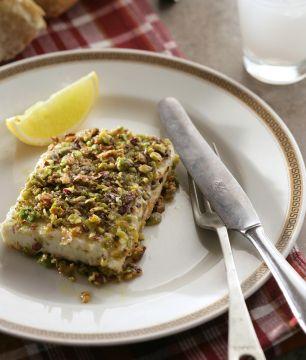 Feta Saganaki with Pistachios and Mastiha | Greek Food - Greek Cooking - Greek Recipes by Diane Kochilas