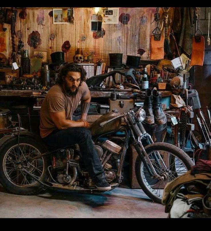 Jason Momoa Knives: Jason Momoa On A Bike