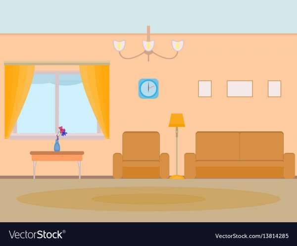 10 Fancy Animated Living Room Background Photos Kartun Ruangan