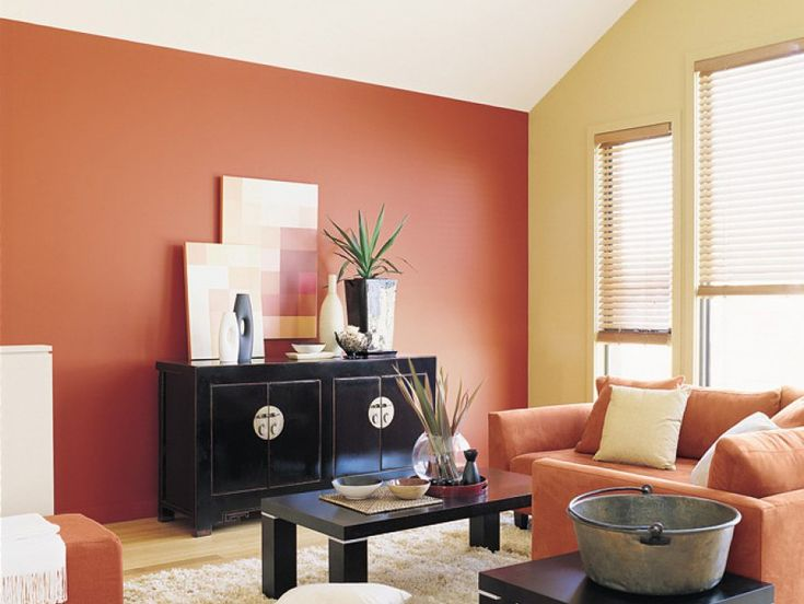 The Exotic Orange Used Here As A Feature Wall Is Fun And Stimulating. While  The