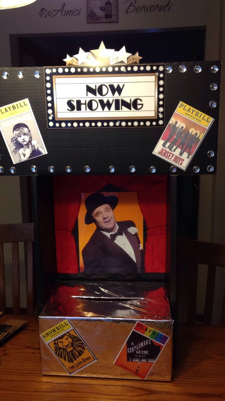 broadway theme card box