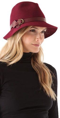 Hats can be so classy. Wish I could wear them every day! Eugenia Kim Dree Floppy Brim Mini Fedora