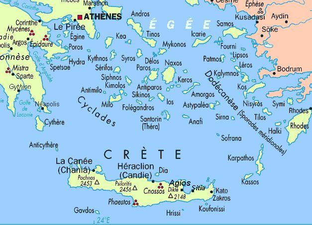 Greek Islands Map #Mediterranean