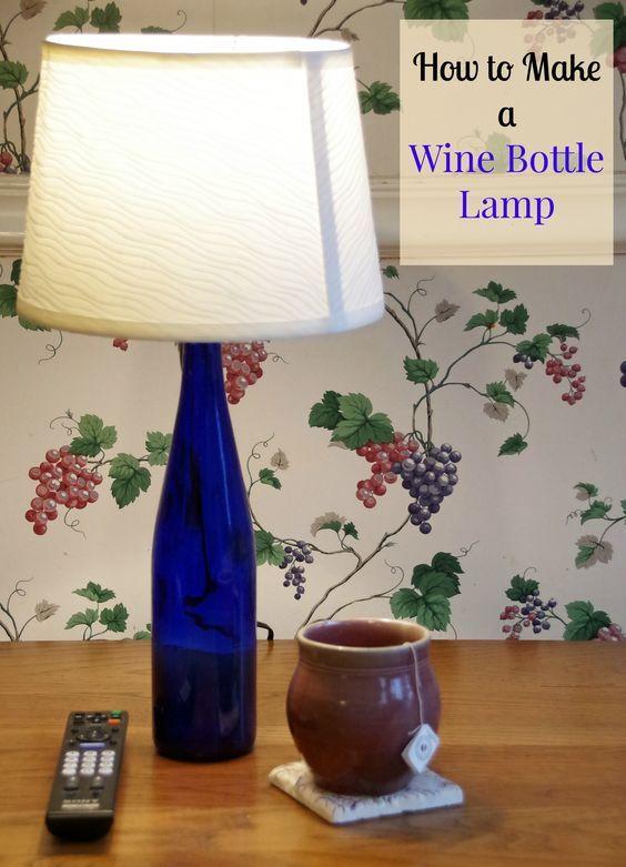 Best 25 wine bottle lanterns ideas on pinterest diy for Lamps made out of wine bottles