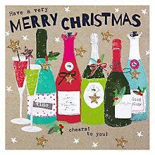 Buy Hammond Gower Wine Christmas Card Online at johnlewis.com