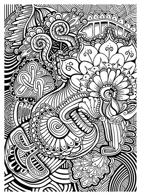 Patterns coloring pages pinterest beautiful different shapes