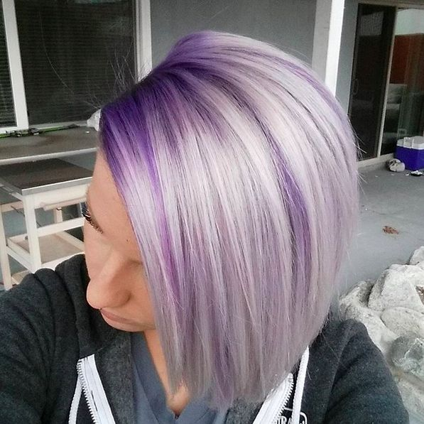 Color melted purple and silver