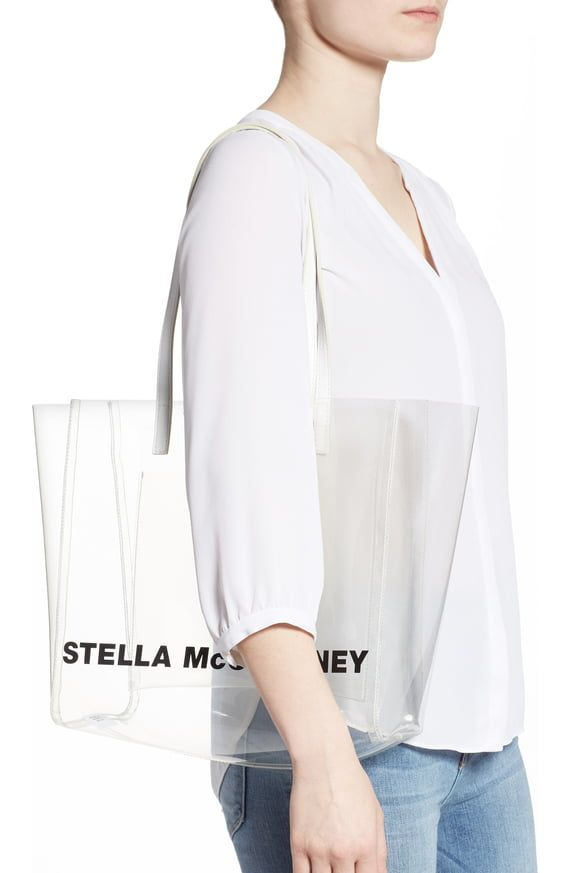 6b27342b2a2d4d Stella McCartney Clear Logo Tote | Nordstrom | Clear Bags in 2019 ...