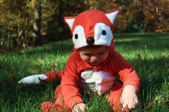 babies dressed as foxes