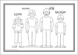 esl coloring pages family traditions - photo#17