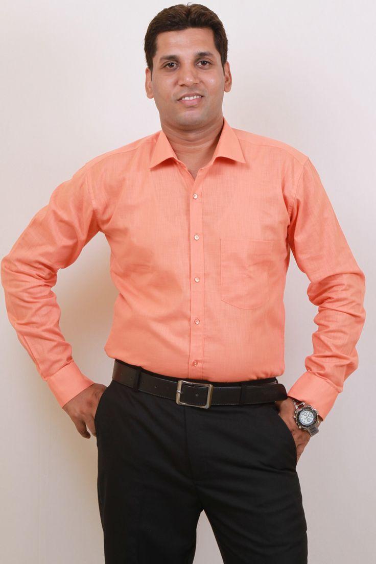 Buy Orange Casual Wear Shirt For Men Online in India