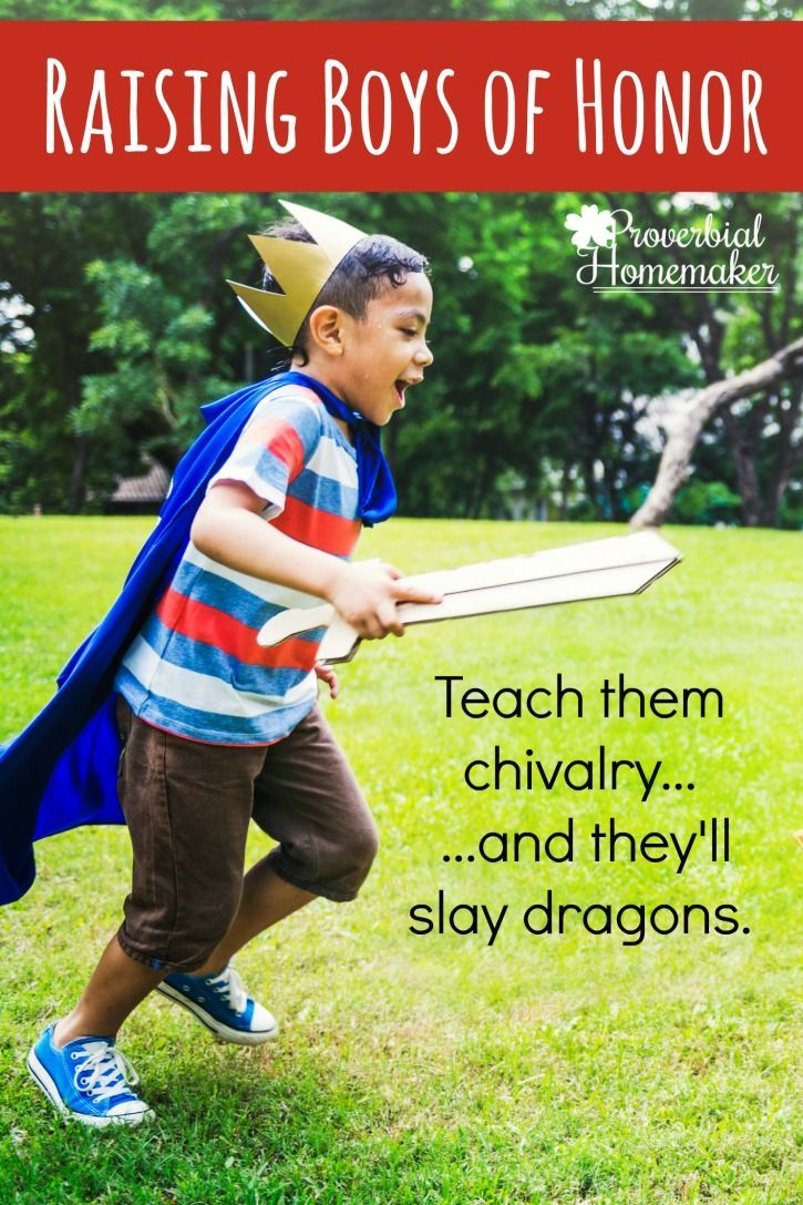 """Yes! We want to teach our boys to be boys of honor! Love this resource for """"Knights in Training."""""""
