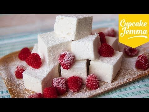 ▶ Easy Marshmallow Recipe feat. Happy Mallow | Cupcake Jemma - YouTube Love their accents :D