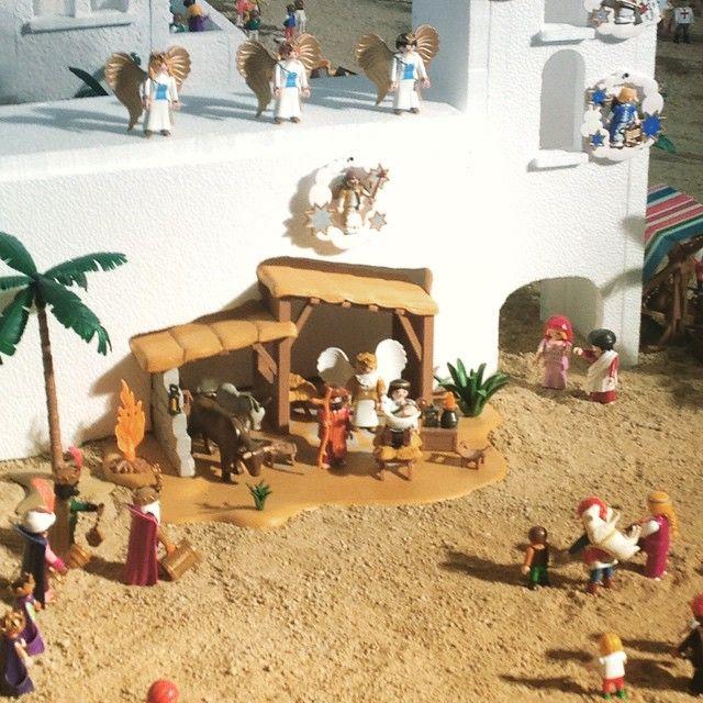 Nos ha encantado el #belen de #playmobil de la hermandad del resucitado de #cuenca