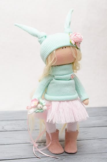 Ronnie Doll-Handmade Doll-Textile by BroderieLittleCorner on Etsy