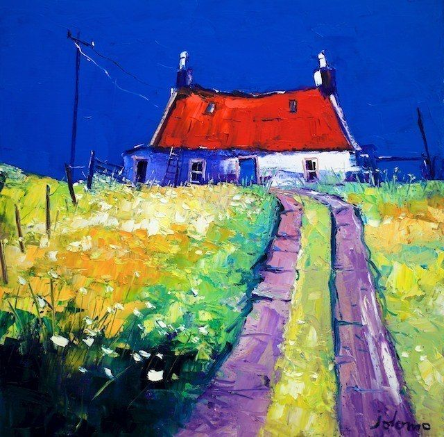 """Red Corry Roof - Isle of Colonsay""  John Lowrie Morrison"