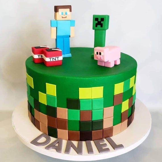 Minecraft Cake Toppers Minecraft Cake Toppers Minecraft Birthday Cake Minecraft Cake
