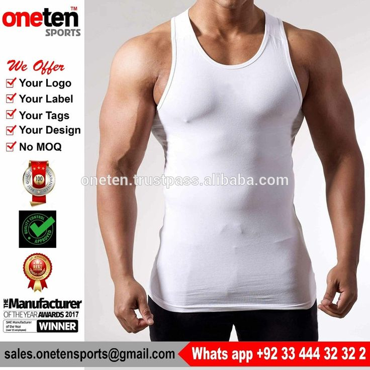 Men's gym sports vest slim fit stringer tank tops low cut custom wrestling singlet - Men Gym Wear