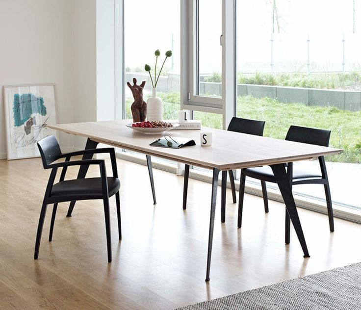 Dining Table Chairs Wood Metal Legs Scandinavian Style Of Living