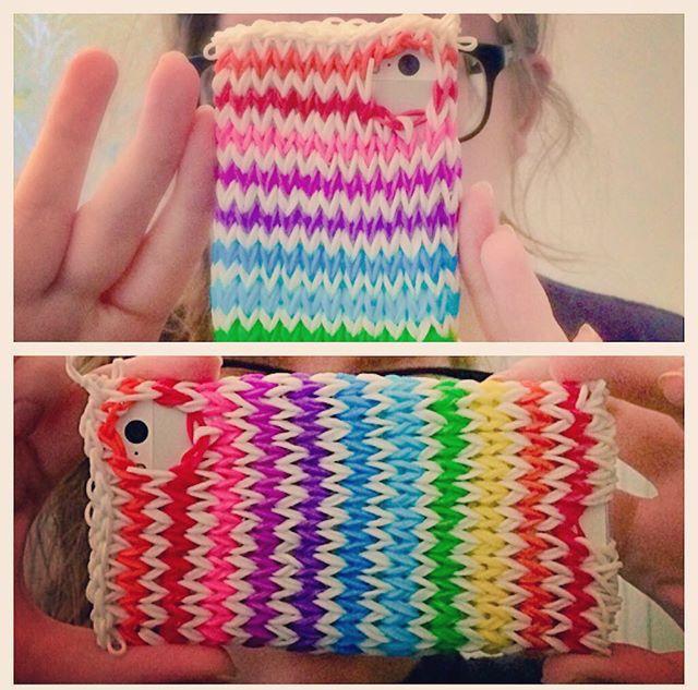 My 2nd Rainbow Loom Phone Case. Tutorial by CraftLife. 2015