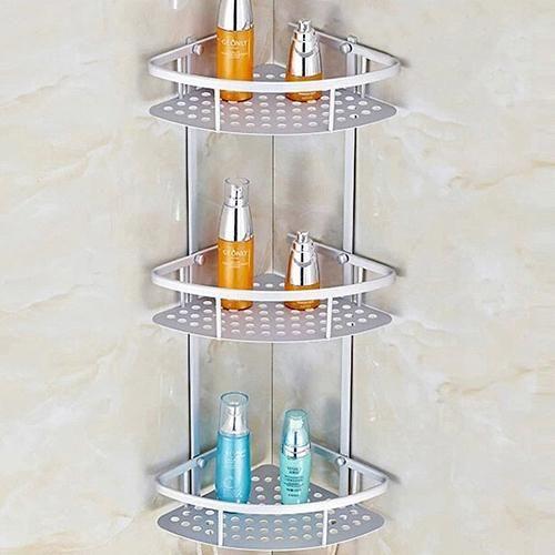 Space Aluminum Bathroom Shelf Shower Shampoo Soap Cosmetic Shelves Corner Shower Caddy Shower Shelves Room Accessories