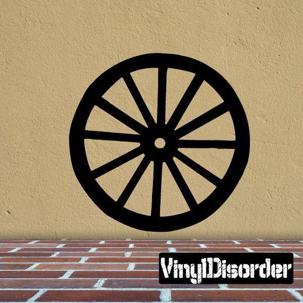 Wheel Southwestern Wall Decal - Vinyl Decal - Car Decal - 028